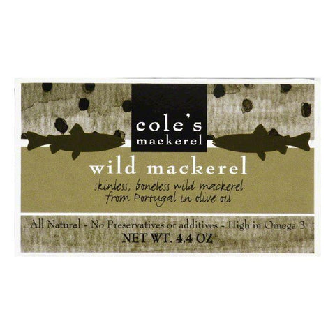 Cole's Mackerel in Olive Oil, 4.4 OZ (Pack of 10)