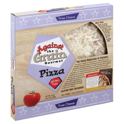 Against The Grain Three Cheese Gluten Free Pizza, 24 Oz (Pack of 6)