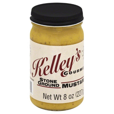 Kelleys Gourmet Stone Ground Mustard, 8 Oz (Pack of 6)