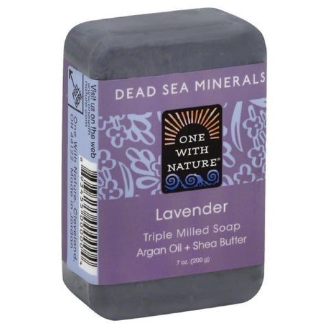 One With Nature Lavender Triple Milled Soap, 7 Oz (Pack of 6)