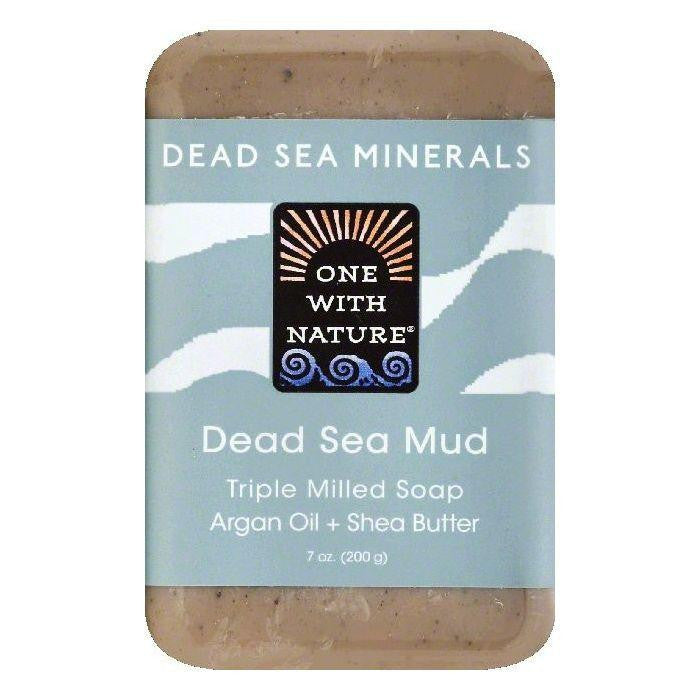 One With Nature Dead Sea Mud Soap, 7 OZ (Pack of 6)