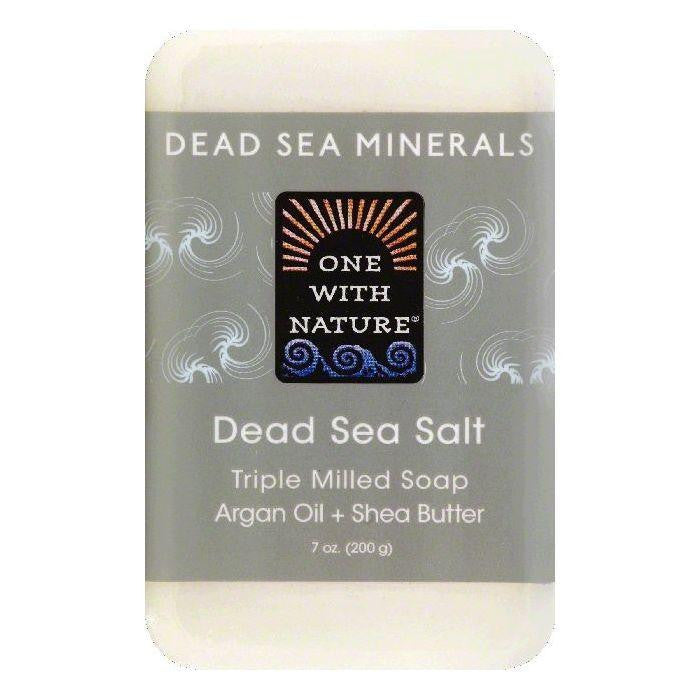 One With Nature Dead Sea Salt Triple Milled Soap, 7 OZ