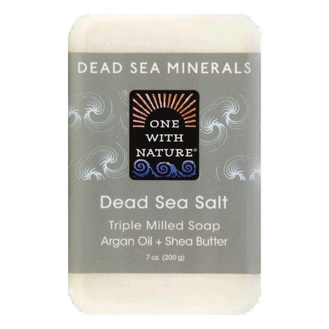 One With Nature Dead Sea Salt Triple Milled Soap, 7 OZ (Pack of 6)