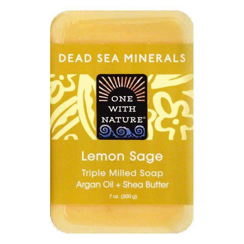 One With Nature Lemon Sage Triple Milled Soap, 7 OZ (Pack of 6)