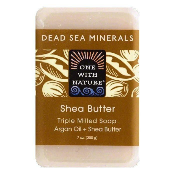 One With Nature Shea Butter Triple Milled Soap, 7 OZ