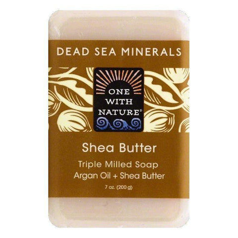 One With Nature Shea Butter Triple Milled Soap, 7 OZ (Pack of 6)
