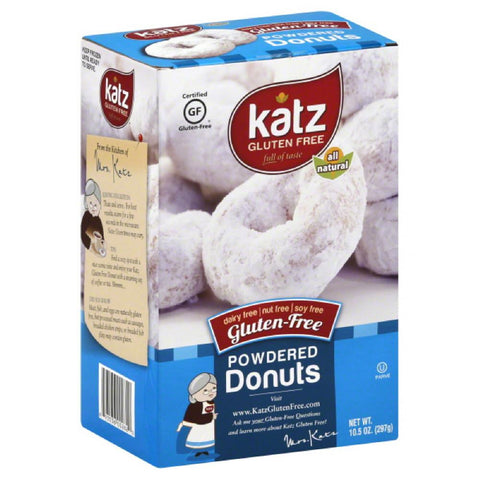 Katz Powdered Gluten-Free Donuts, 10.5 Oz (Pack of 6)