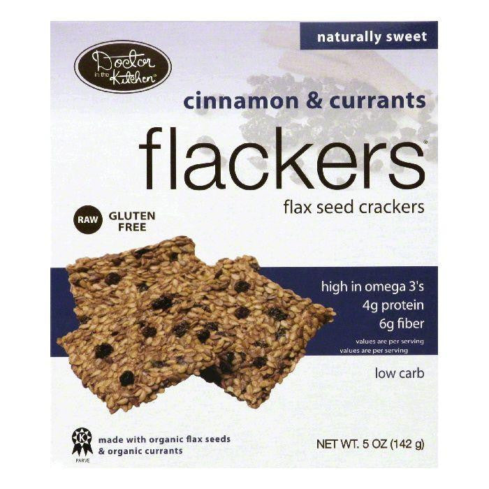 Doctor In The Kitchen Cinnamon Currant Flackers, 5 OZ (Pack of 6)