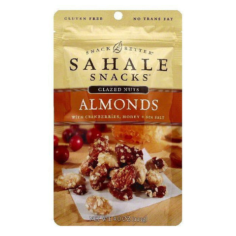 Sahale Honey + Sea Salt with Cranberries Almonds, 4 OZ (Pack of 6)