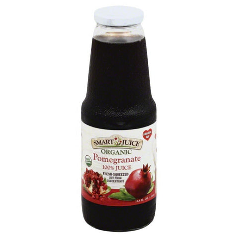Smart Juice Pomegranate Organic 100% Juice, 33.8 Oz (Pack of 6)
