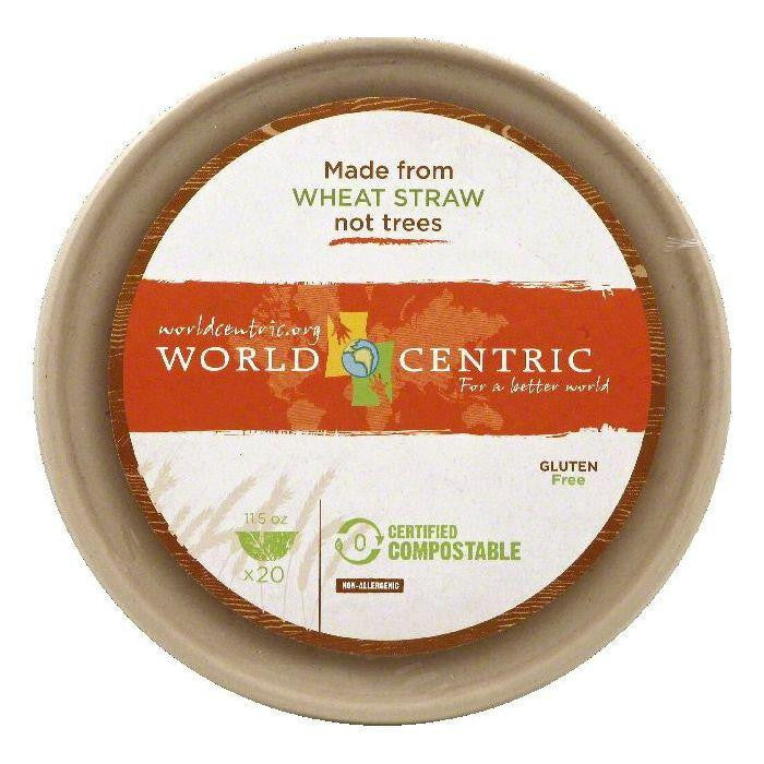 World Centric 11.5 Oz Bowls, 20 ea (Pack of 12)