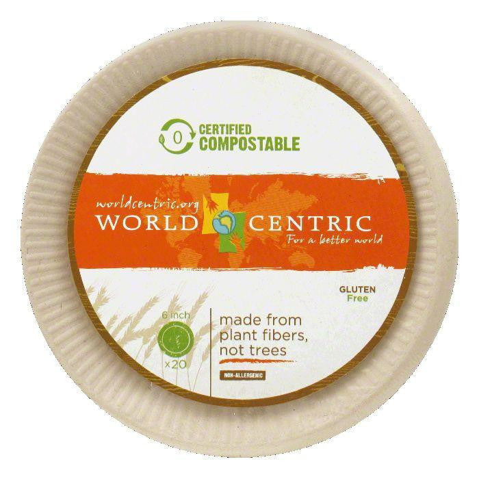 World Centric 6 Inch Compostable Plates, 20 PC (Pack of 12)