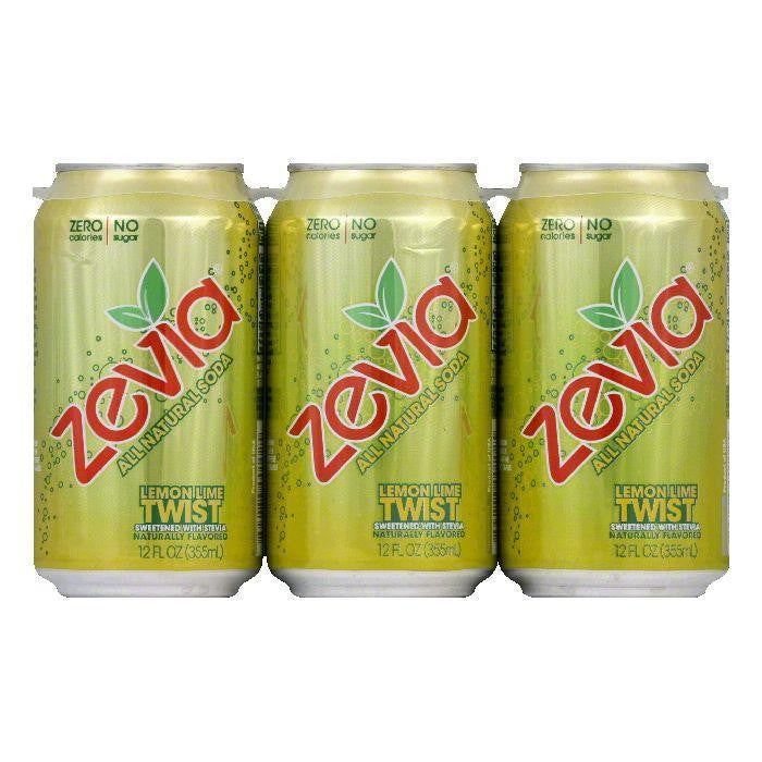 Zevia Natural Zero Calorie Lemon Lime Twist, 72 FO (Pack of 4)
