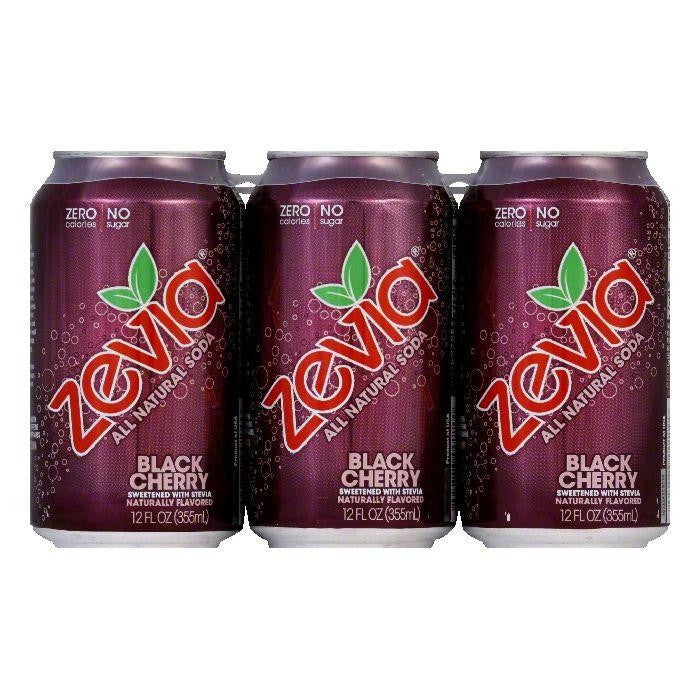 Zevia Natural Zero Calorie Black Cherry, 72 FO (Pack of 4)