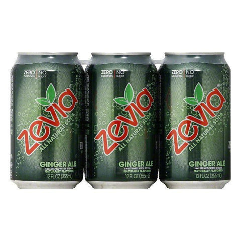 Zevia Natural Zero Calorie Ginger Ale, 72 FO (Pack of 4)
