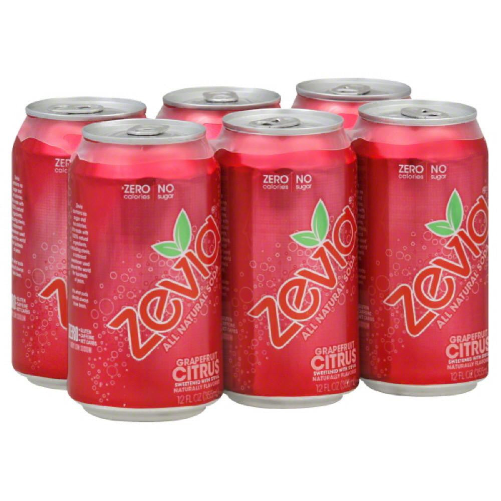 Zevia Grapefruit Citrus Soda, 72 Fo (Pack of 4)