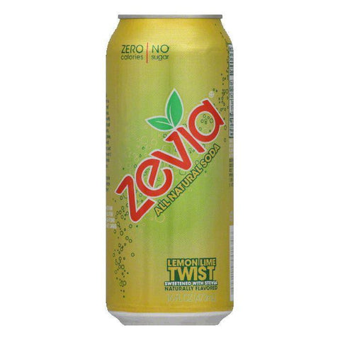 Zevia Lemon Lime Twist Soda, 16 FO (Pack of 12)