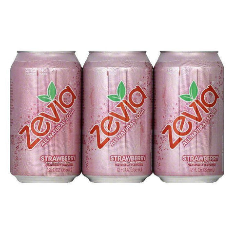 Zevia Strawberry All Natural Soda, 72 FO (Pack of 4)
