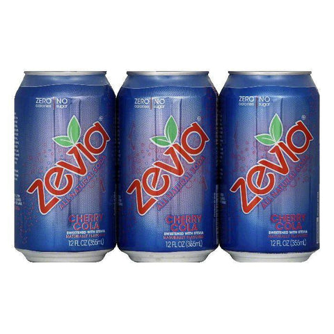 Zevia Cherry Cola All Natural Soda, 72 FO (Pack of 4)