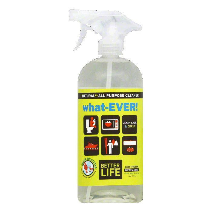 Better Life what-EVER Scent Free All Purpose Clary Sage and Citrus Cleaner, 32 OZ (Pack of 6)