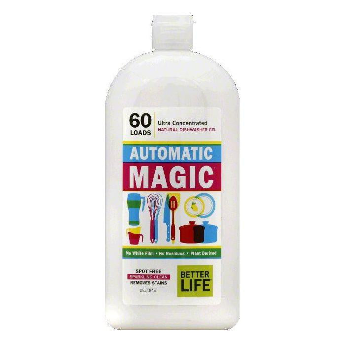 Better Life Ultra Concentrated Automatic Magic Natural Dishwasher Gel, 30 OZ (Pack of 6)
