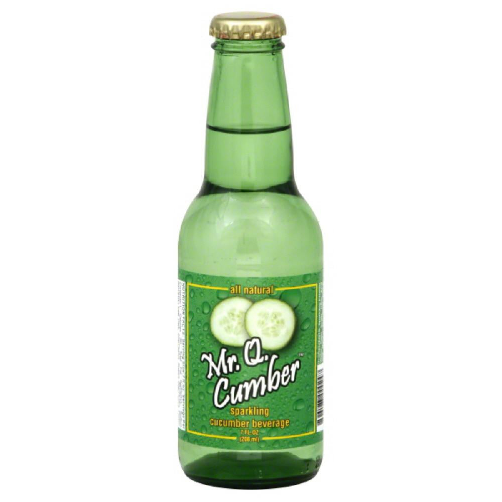 Mr Q Cumber Sparkling Cucumber Beverage, 7 Fo (Pack of 24)