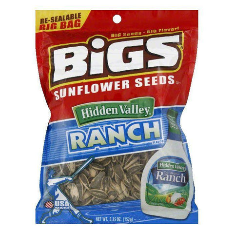 Bigs Zesty Ranch Sunflower Seeds, 5.35 OZ (Pack of 8)