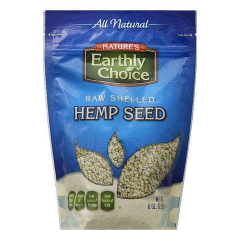 Earthly Choice Raw Shelled Hemp Seed, 8 Oz (Pack of 6)