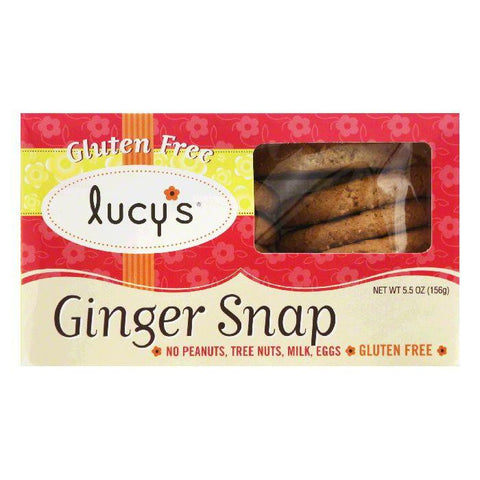Lucy's Gluten Free Ginger Snap Cookies, 5.5 OZ (Pack of 8)