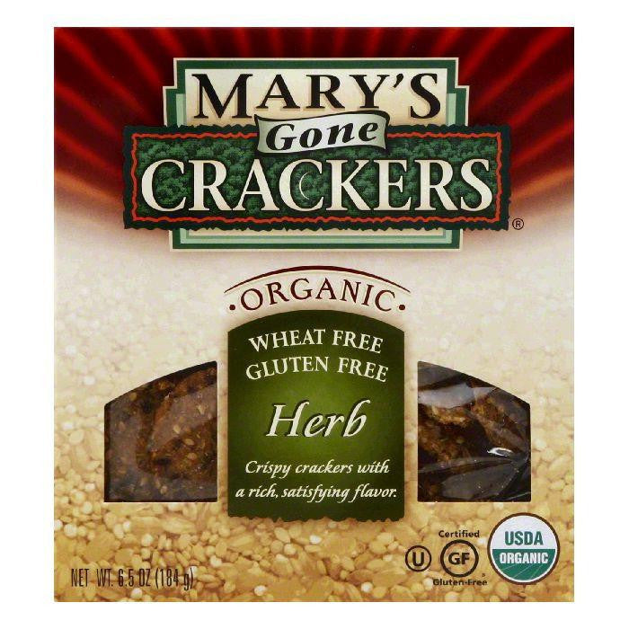 Mary's Gone Crackers Gluten Free Herb, 6.5 OZ (Pack of 6)