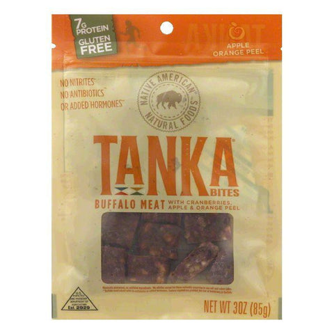 Tanka  Apple & Orange Peel with Cranberries Buffalo Meat Bites, 3 Oz (Pack of 6)
