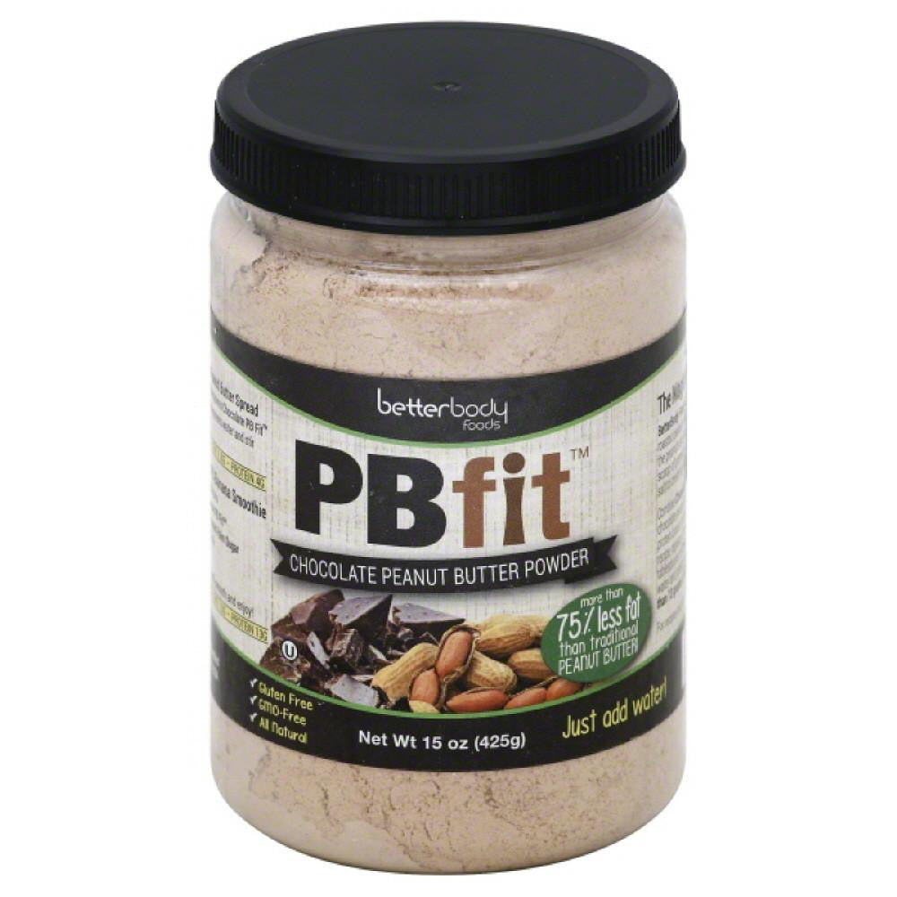 PBfit Chocolate Peanut Butter Powder, 15 Oz (Pack of 6)