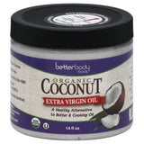 BetterBody Foods Extra Virgin Oil Organic Coconut, 15.5 Oz (Pack of 6)