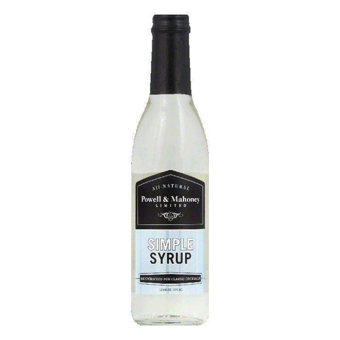 Powell & Mahoney Simple Syrup, 12.68 OZ (Pack of 6)