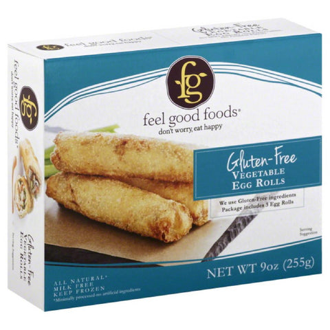 Feel Good Foods Vegetable Gluten-Free Egg Rolls, 9 Oz (Pack of 9)