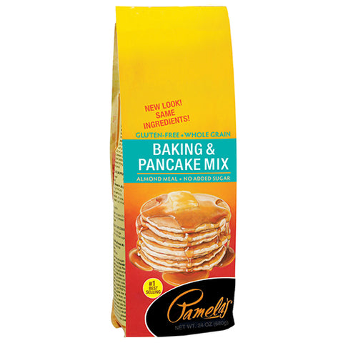 Pamelas Baking & Pancake Mix, 24 OZ (Pack of 6)