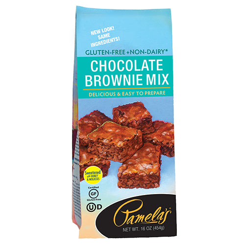 Pamelas Chocolate Brownie Mix, 16 OZ (Pack of 6)