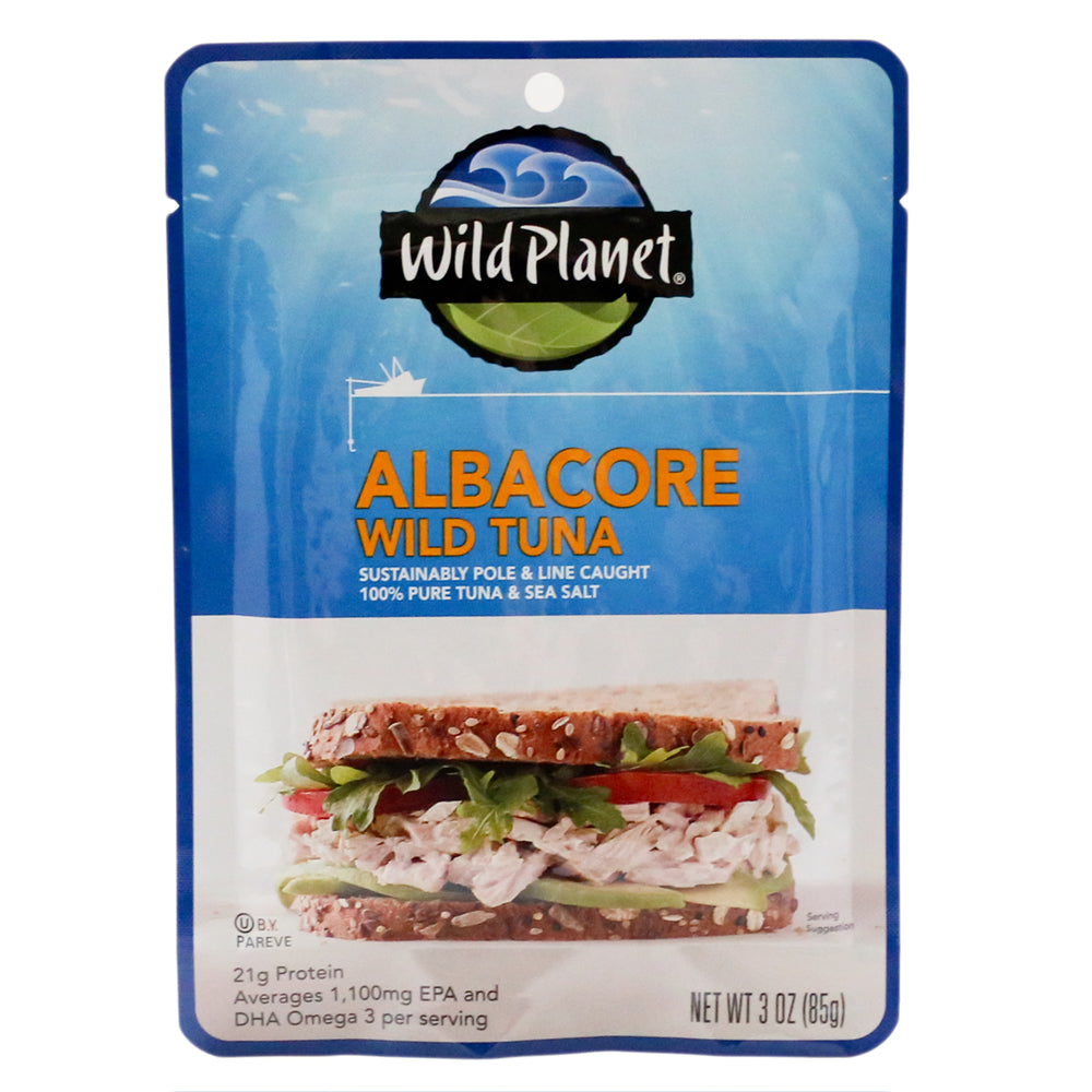 Wild Planet No Salt Added Wild Albacore Tuna, 3 Oz (Pack of 24)