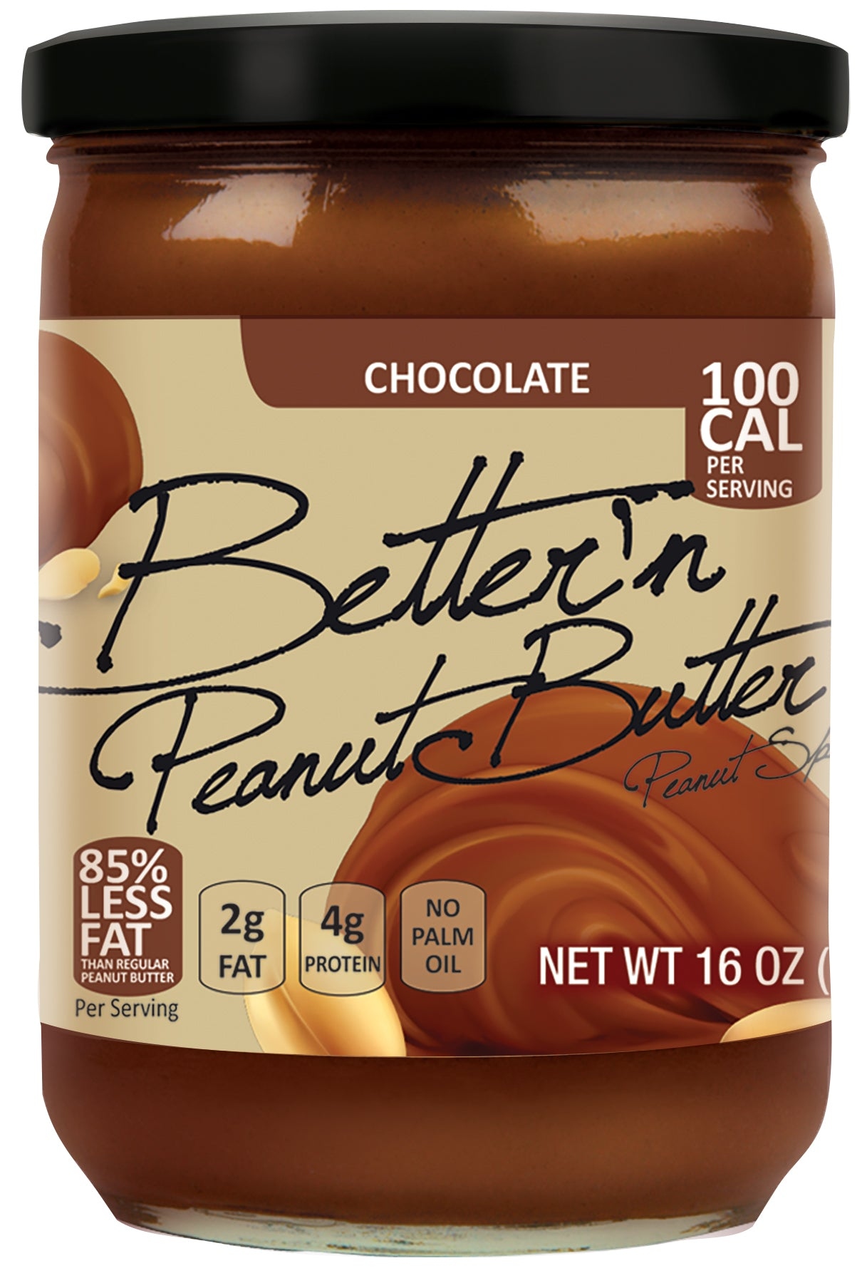 Bettern Chocolate Peanut Butter, 16 OZ (Pack of 6)