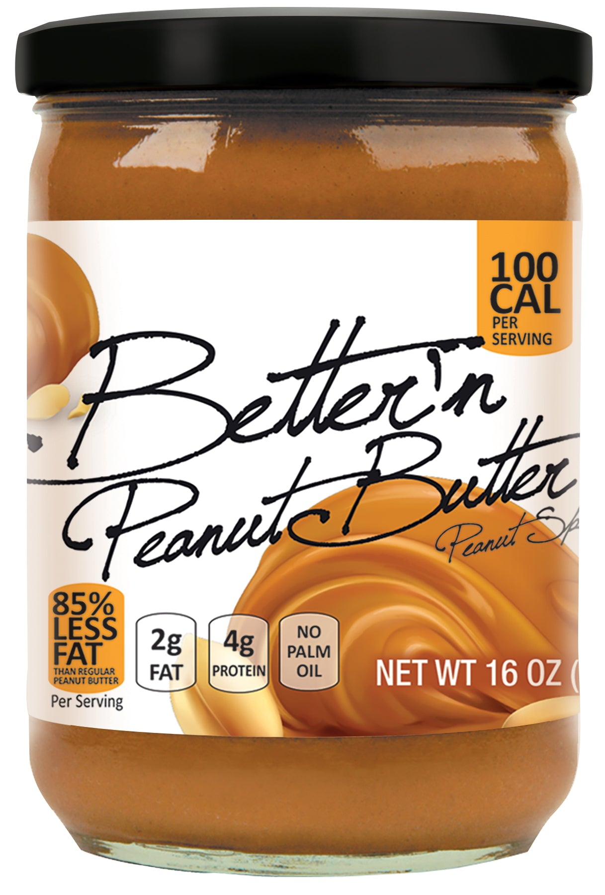 Better'n Peanut Butter Spread Original, 16 OZ (Pack of 6)