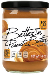 Better N Peanut Butter Spread Original, 16 OZ (Pack of 6)