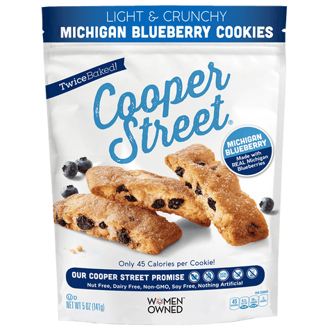 Cooper Street Light & Crunchy Michigan Blueberry Cookies, 5 OZ (Pack of 6)