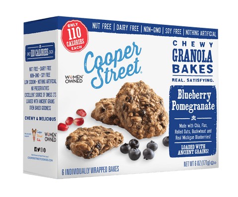 Cooper Street Blueberry Pomegranate Chewy Granola Bakes, 6 OZ (Pack of 6)