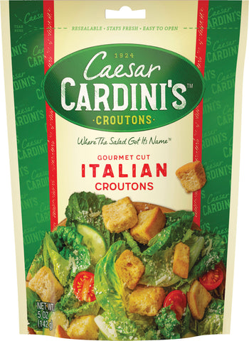 Cardini Croutons Italian Gourmet Cut, 5 OZ (Pack of 12)