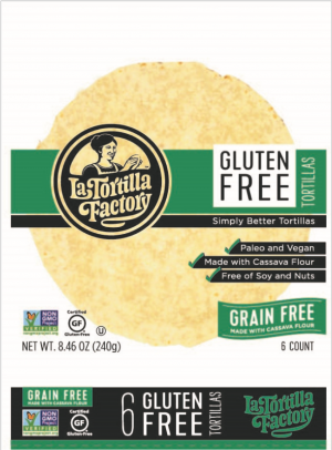 La Tortilla Factory Cassava Tortilla 8.46OZ (Pack of 12)