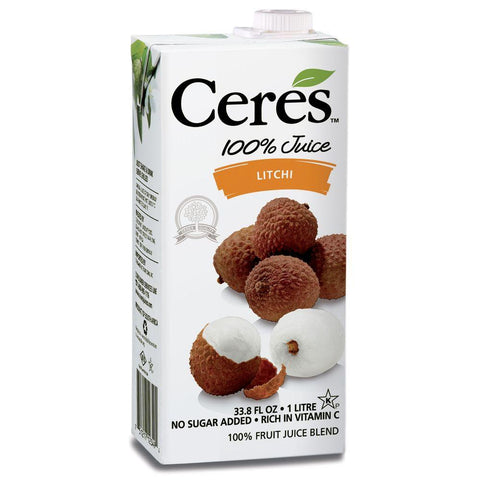 Ceres Litchi 100% Juice, 33.8 Oz (Pack of 12)