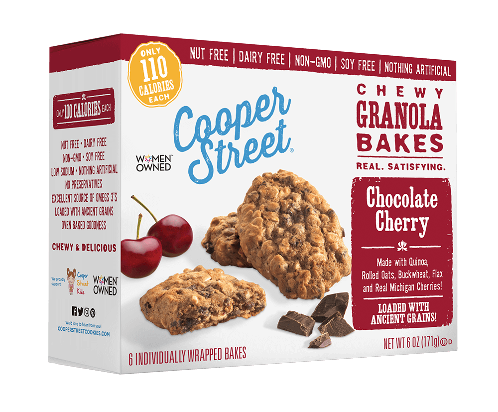 Cooper Street Chocolate Cherry Chewy Granola Bakes, 6 OZ (Pack of 6)