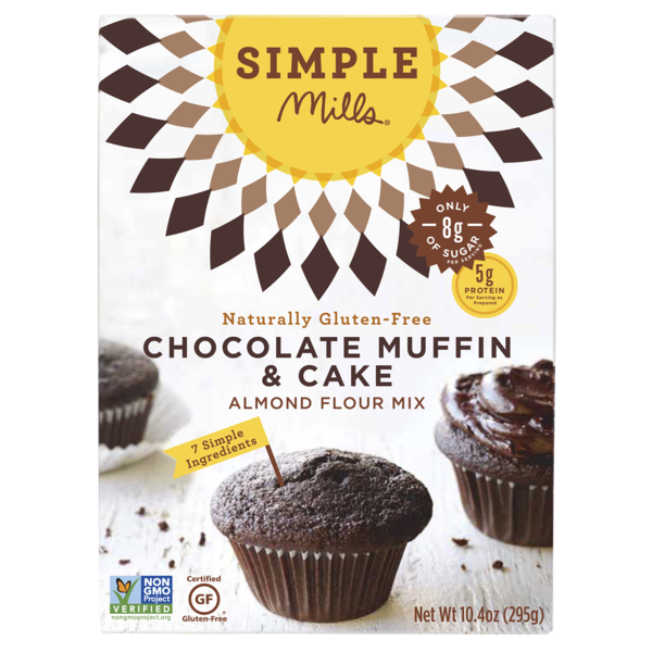 Simple Mills Chocolate Muffin & Cake Mix, 10.4 OZ (Pack of 6)
