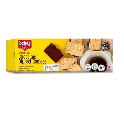 Schar Chocolate Dipped Cookies, 3.53 Oz (Pack of 12)