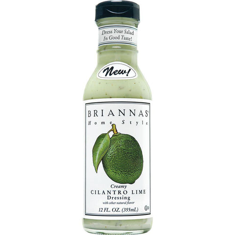 Briannas Cilantro Lime Dressing, 12 OZ (Pack of 6)